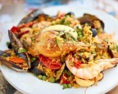 Paella mixte (poulet, langoustines, moules) (facile, rapide) - Une recette CuisineAZ