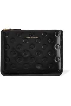 eadac65a632 Black glossed-leather (Cow) Zip fastening along top Made in Spain Travel  Handbags