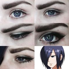 as requested many times it's not super duper but it's my basic touka eye tutorial ft purple G&G blossom lenses from @uniqso