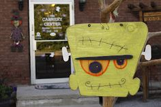 Cannery Center Boutique: Frankie wooden Door hanger. So cute!