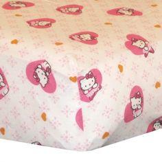 Hello Kitty ballerina fitted crib sheet