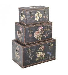 S_3 WOODEN_CANVAS TRUNK W_FLOWERS 65X38X35