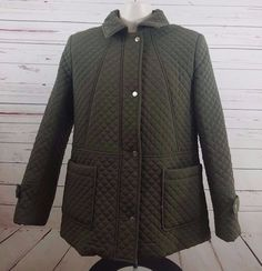 Mackintosh New England Women's Medium Green Jacket Coat #Mackintosh #BasicCoat #Evening