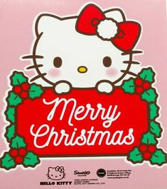 Your place to buy and sell all things handmade Merry Christmas Pictures, Christmas Frames, Christmas Stickers, Christmas Fun, Xmas, Hello Kitty Art, Hello Kitty Images, Kawaii, Clipart Noel