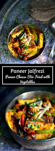 Paneer Jalfrezi - Paneer Stir Fried with Vegetables - Spicy with burst-in-your-mouth flavors in every bite, this Paneer Jalfrezi is a favorite amongst all! www.cookingcurries.com