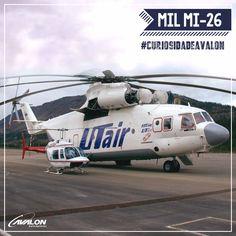 Concluído em 1977 e apresentado em 1983, o Mil Mi-26  é um helicóptero com 40 metros de comprimento e 28.200 quilos, sendo conhecido como o maior helicóptero do mundo.  Em 1999, foi usado para transportar um mamute preservado em um  bloco de gelo de 25 toneladas na Sibéria para um laboratório em Khatanga, localizada no norte da Sibéria.🚁    #CuriosidadeAvalon #VoeAvalon #Helicópteros