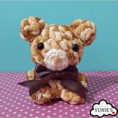 Crochet Brown Udon Bear Amigurumi by Yunie's on Etsy #HEPTEAM