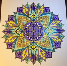 ColorIt Mandalas to Color Volume 1 Colorist: Terri Ferguson Dobbs #adultcoloring…