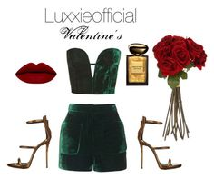 """Valentine's"" by gellnerndudi on Polyvore featuring Topshop, Giuseppe Zanotti, Giorgio Armani, Sia, women's clothing, women's fashion, women, female, woman and misses"