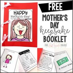 ****MOTHER'S DAY****This Mother's Day freebie keepsake booklet is always a favorite year-to-year. Use as many...or few...of the pages as you have time to complete :) This makes a great Mother's Day gift!! (V.I.P. pages are included for students who need to designate a dad/aunt/uncle/grandma/grandpa/family friend as a mother figure.