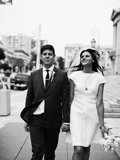 Beautiful mod-inspired #wedding dress! From http://snippetandink.com/mod-inspired-wedding-at-city-hall/  Photo Credit: http://christina-diane.com/  Dress by http://valentino.com/en/home/