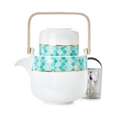 White Moroccan Tile Element Tea for One