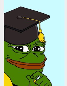 Pepe the frog graduated