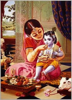 Baby Krishna with Mother Yashoda