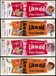 CC_Sunline - Lik-M-Aid candy packages unused proofs - early 1960's