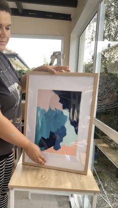 Time lapse of framing an original on paper Diy Videos, Framed Art, Artworks, Abstract Art, The Originals, Paper, Artist, Decor, Decoration