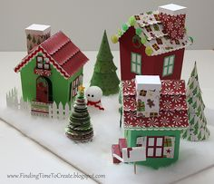 Christmas Village by Crafting Kelly.