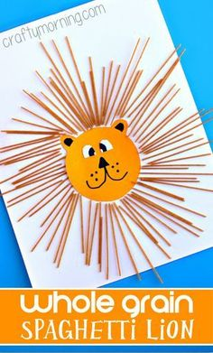Spaghetti Lion Craft for Kids - Crafty Morning