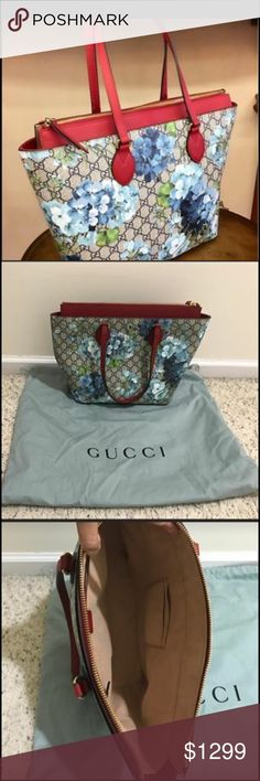 "Authentic Gucci Hibiscus blossom Authentic Gucci hibiscus blossom with tags and dustbag in very good condition size width 12"" x height 12"" Gucci Bags Shoulder Bags"