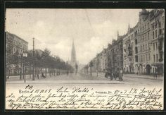 AK Berlin-Kreuzberg, Blick in die Gneisenaustraße  gelaufen 1903,