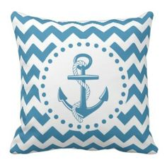 Kids Blue Chevron Nautical Anchor Pillow - Chevron is one of the most popular patterns to make a come back in recent years. These pretty pillows feature the fresh and classic look of chevron in beautiful shades of blue.#chevron #chevronthrowpillows #prettythrowpillows #zigzag #blue Visit our site and browse our large collection of chevron throw pillows as well as thousands of other decorative accent throw pillows for your home. www.prettythrowpillows.com Anchor Pillow, Chevron Throw Pillows, Nautical Anchor, Blue Chevron, The Fresh, Shades Of Blue, Accent Decor, Popular, Patterns