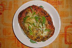 Focaccia mit Bärlauch-Pesto und Mozzarella