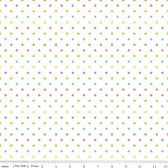 MULTICOLORED Swiss Dots on White from Riley Blake  1 by Jambearies