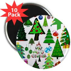 "Oh Christmas Tree 2.25"" Magnet (10 pack) {Cafepress-zIw0AsKa}"
