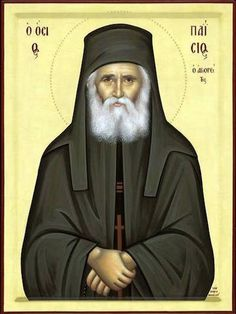 Orthodox icon of Saint Paisios, the Elder of Mount Athos. Byzantine Icons, Byzantine Art, Religious Icons, Religious Art, Christian Mysticism, Sunday Movies, The Holy Mountain, Roman Church, New Saints