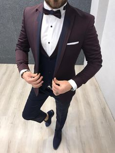 Collection: Spring – Summer 2020 Product: Slim Fit Tuxedo Color Code: Black Size: Suit Material: satin fabric, lycra Machine Washable: No Fitting: Slim-fit Package Include: Jacket, Vest, Pants Gifts: Flower, Chain and Bow Tie Dry Clean Only Slim Fit Tuxedo, Slim Suit, Tuxedo For Men, All Black Tuxedo, Baby Tuxedo, Tuxedo Suit, Black Vest, Black Suits, Men's Tuxedo Wedding