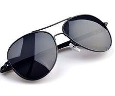 Amazon.com: Aviator Full Metal Frame Military Style Classic Sunglasses Polarized 100% UV protection (Black, Black): Clothing