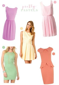 Pastel colored dresses for debut guest
