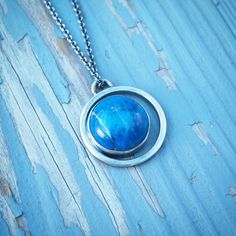 This beautiful lapis crescent necklace is still available on meritmadekc.com #meritmade #shopsmall