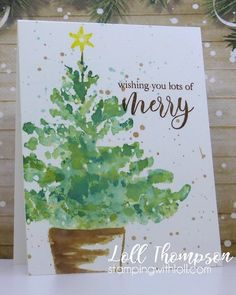 First time inking up this fabulous stamps from Penny Black. Placed tree stamp in my misti, along with a piece of Mixed Me. Christmas Mantels, Noel Christmas, Christmas Balls, Christmas Projects, White Christmas, Christmas Garden, Watercolor Christmas Tree, Christmas Tree Drawing, Christmas Paintings