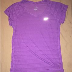 Nike Dri-Fit Shirt Light purple striped drifit tshirt for sale. Very lightweight and somewhat sheer. Striped design, size large. Nike Tops Tees - Short Sleeve