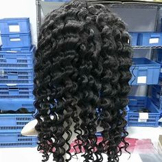 Full lace wig, curlyhair,100% virgin human hair, natural color, dyeable, from 10inch to 30inch, For more details,pls contact me directly.  #gshair #wig #fulllacewig #fulllacewigs #humanhairwigs #hairstyle #hair