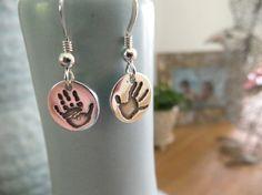 Fingerprint Jewellery Earrings Hand Foot or Paw by Rae and Edward Fingerprint Jewellery, £75.00