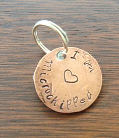 Microchipped pet tag on Etsy, $15.00