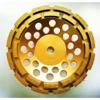 Whirlwind USA 7 in. Double Row Diamond Grinding Cup Wheel for Concrete and Mortar