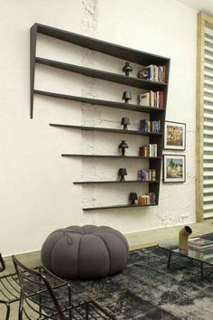 The charm of sculptural furniture. - Home Decoration - Interior Design Ideas Wood Furniture, Furniture Design, Furniture Ideas, Geometric Furniture, Cheap Furniture, Furniture Makeover, Vitrine Design, Regal Design, Deco Design