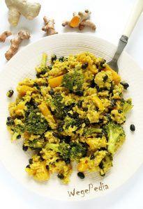 Proste wegańskie risotto z brokułami - pyszne, pożywne, bardzo aromatyczne, wściekle kolorowe, jednogarnkowe i ugotowane bez dodatku tłuszczu. Vegan Foods, Vegan Recipes, Vegan For A Week, Risotto, Bon Appetit, Broccoli, Dessert Recipes, Food And Drink, Dinner