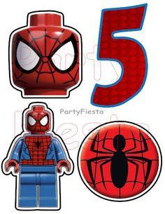 Spiderman Lego Sticker Balloons Pick Centerpiece
