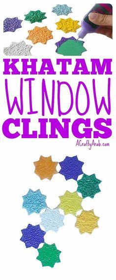 For Eid, you can decorate with khatam window clings to give the holiday a festive feel. Eid Crafts, Ramadan Crafts, Projects For Kids, Crafts For Kids, Art Projects, Muslim Months, El Ramadan, Muslim Culture, Holidays Around The World