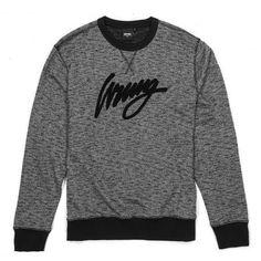 WRUNG Sign sweat ras du cou noir chiné 75,00 € #skate #skateboard #skateboarding #streetshop #skateshop @playskateshop