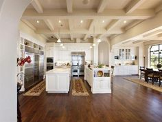 A spacious chef's kitchen #hardwood