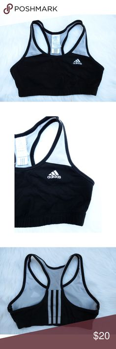 Adidas sports bra Adidas black and gray sports bra, in excellent condition! This bra is super comfy and is great for working out or perfect for an everyday wear. Size small. Bra has no padding. Adidas Intimates & Sleepwear Bras