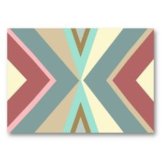 19 best native american business cards images on pinterest abstract tribal blue red pink triangles pattern business cards colourmoves