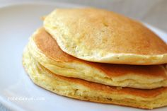 Sunday Morning Pancakes - uses 3 eggs, separated and beaten separately. This is what makes pancakes fluffy.