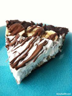 **No Bake Raw Chocolate Banana Cream Pie.  GF, raw and vegan.  Made this... it was yummy!