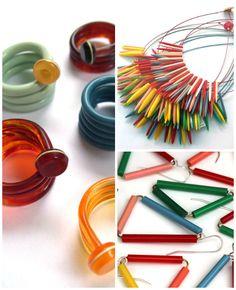 Knitting needle jewelry...